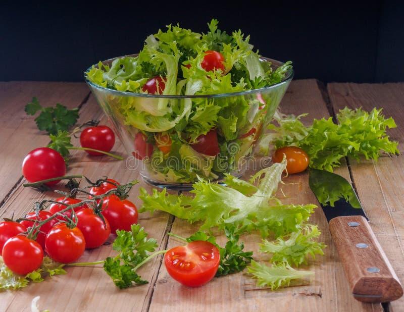 Saladegroenten royalty-vrije stock foto's