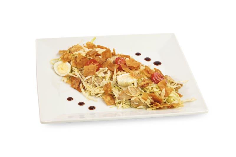 Salades avec des fruits de mer image stock