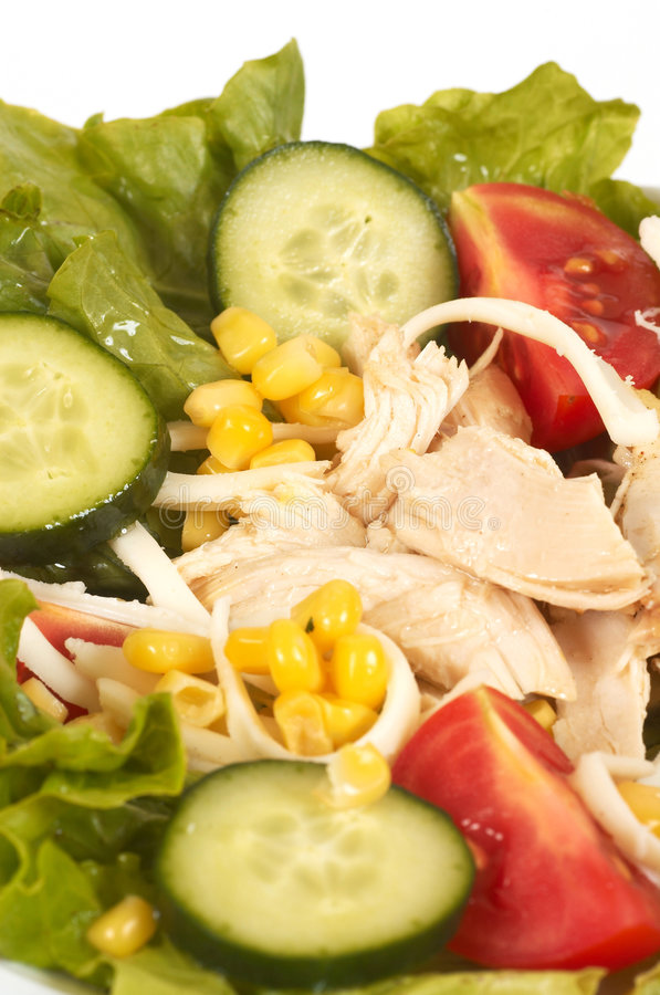 Salades de poulet photos libres de droits