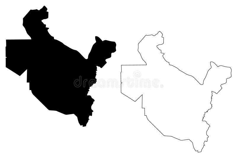 Saladin Governorate översiktsvektor vektor illustrationer