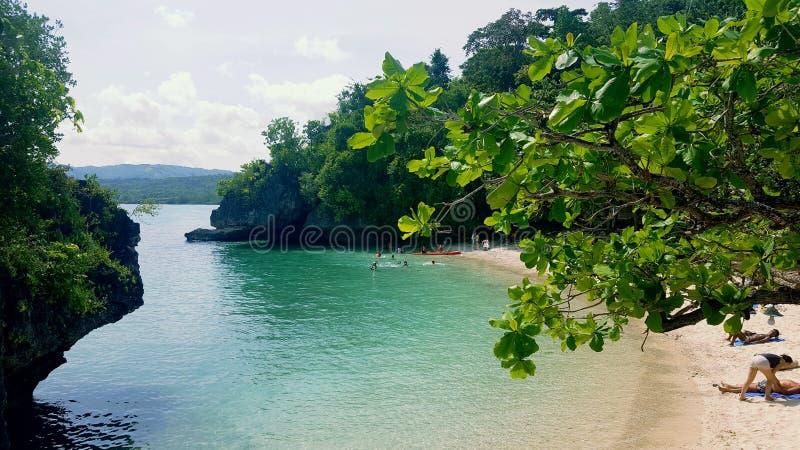 Salagdoong strand fotografering för bildbyråer