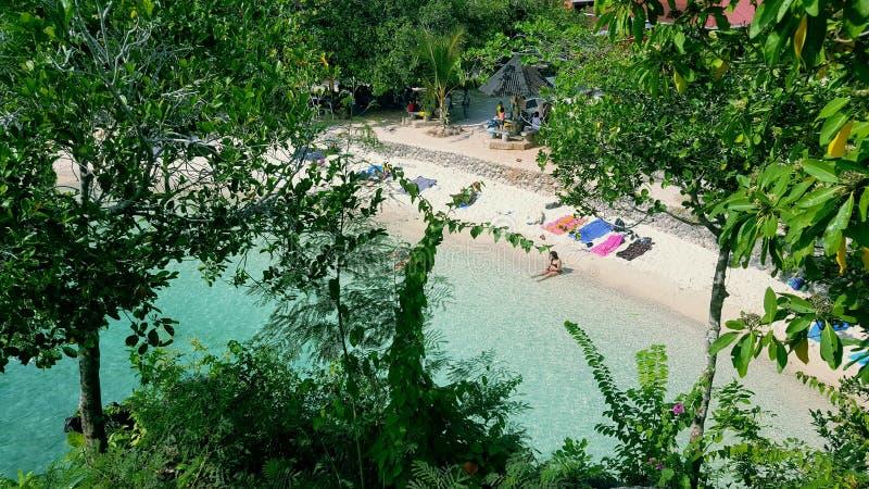 Salagdoong strand royaltyfri foto