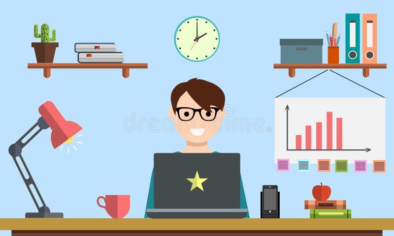 Salaire créatif de conception d'équipe de vente de gestion de srartup d'analytics numérique de planification par analyse sociale  illustration de vecteur