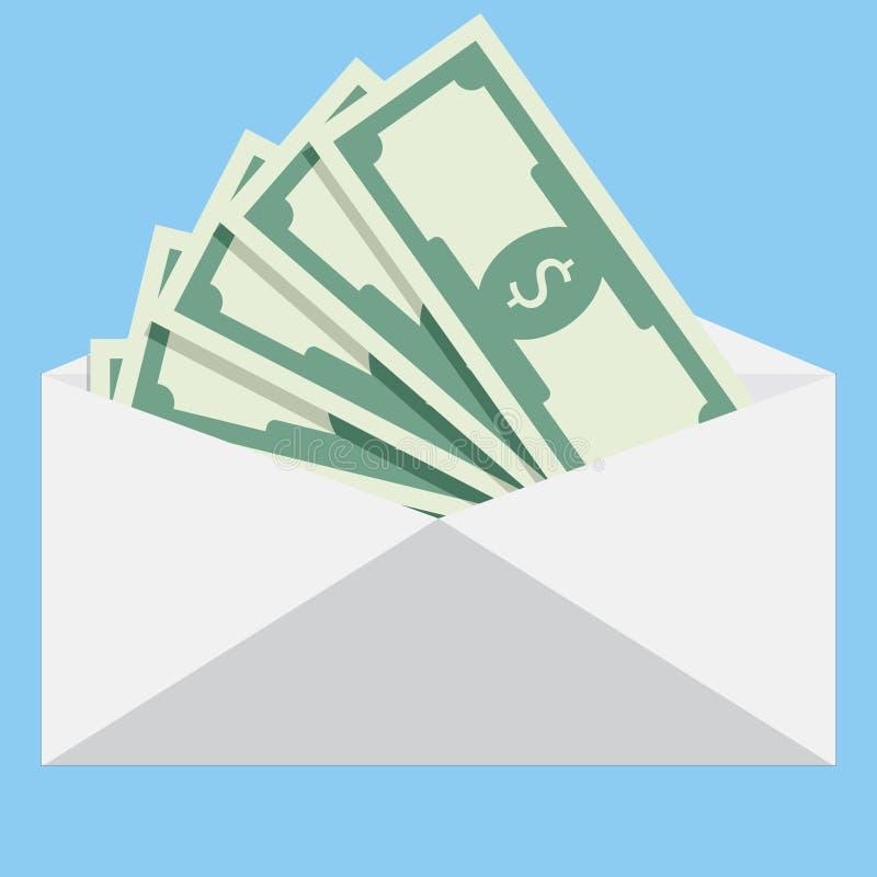 Salaire dans l'enveloppe photos stock