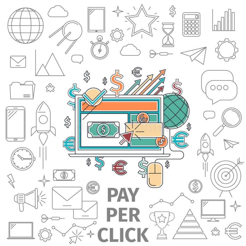 Salaire de concept par clic illustration stock