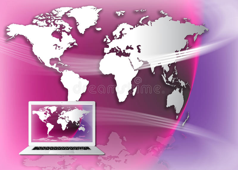 Salaire du monde en ligne illustration libre de droits