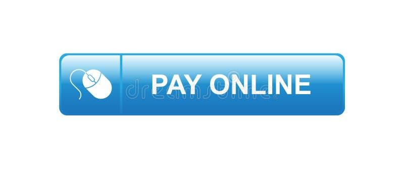 Salaire en ligne maintenant illustration stock