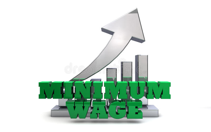 Salaire minimum photographie stock