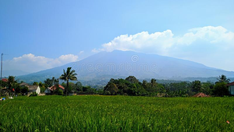 Salak mountain of Sukabumi, Indonesia. 2019 royalty free stock photography