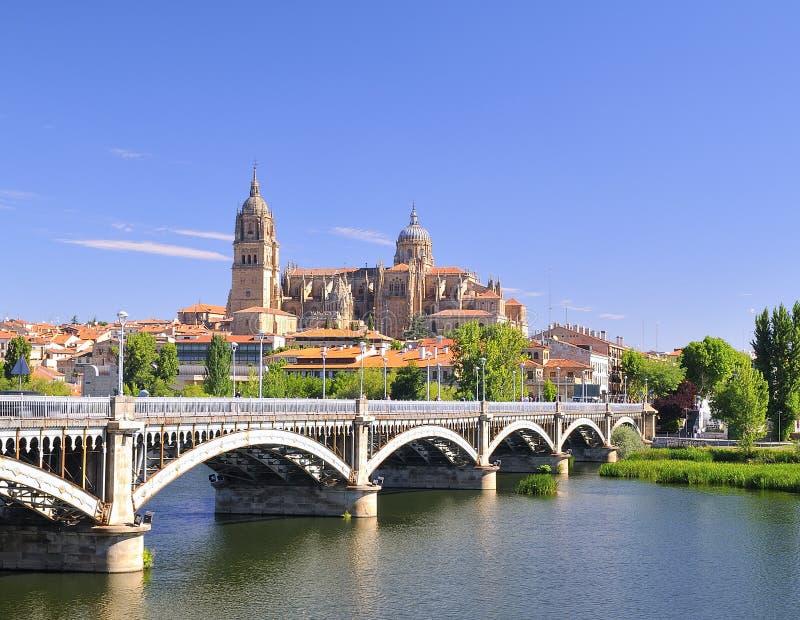 Salamanca cathedral. royalty free stock photography