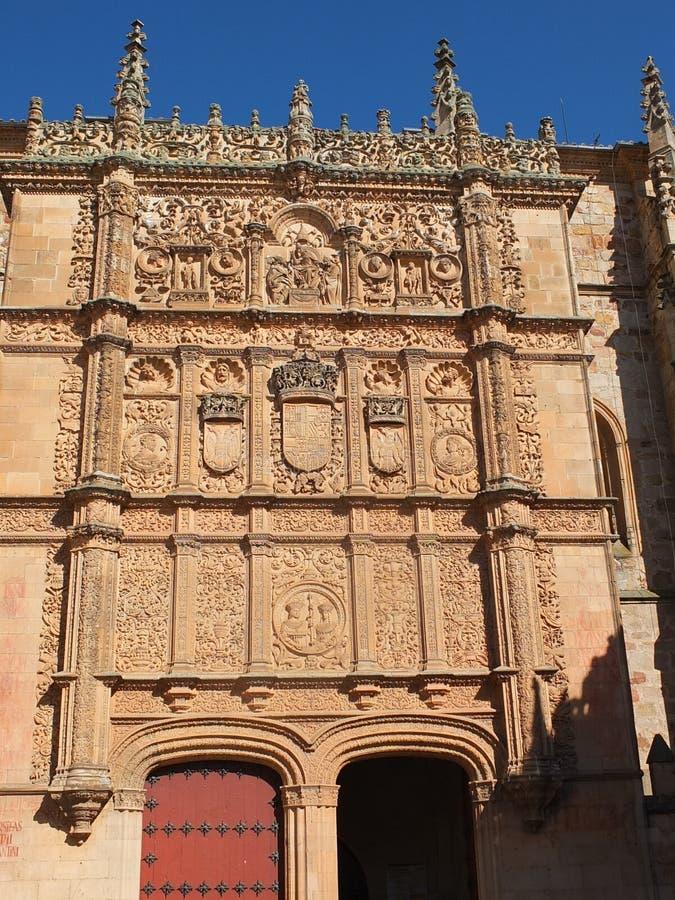 Salamanca-Kathedralen-Eingangs-Detail lizenzfreies stockfoto