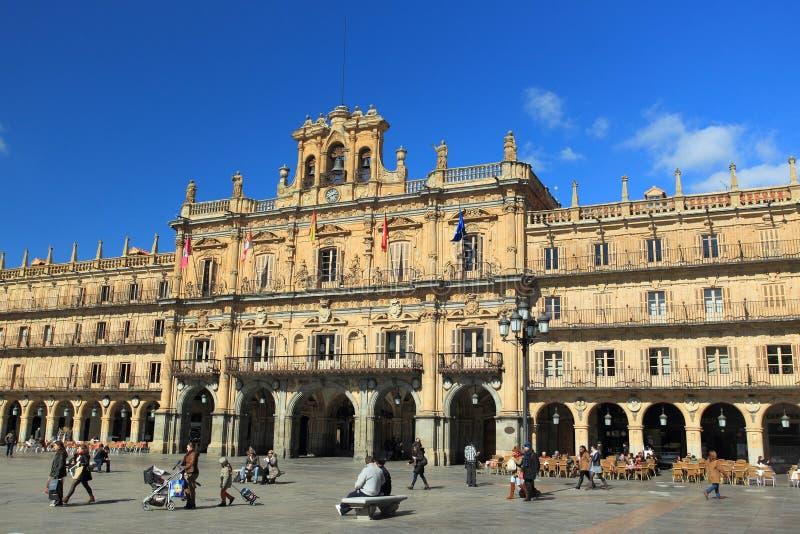 Salamanca - Piazza-Bürgermeister stockfotografie