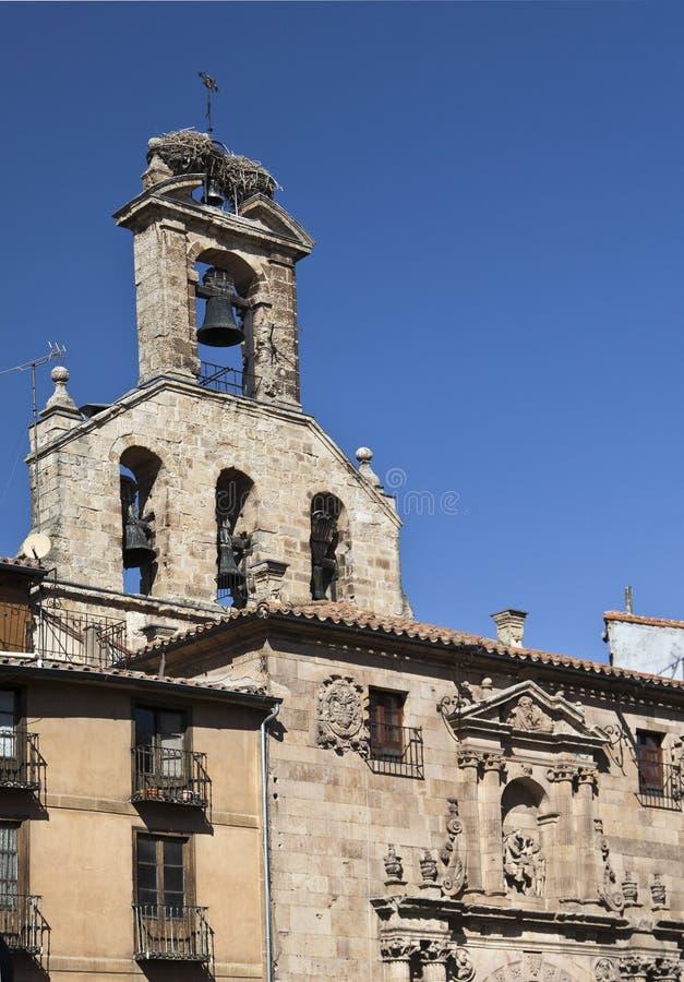Salamanca San Martin Church stock afbeelding