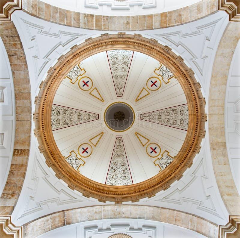 SALAMANCA, SPAIN, APRIL - 17, 2016: Cupola of church Iglesia de San Pablo from 17. cent. stock photo