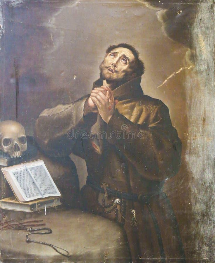 Salamanca - St Francis de Assisi imagens de stock royalty free