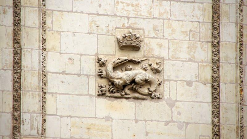 Salamander in Chateau DE Blois in Loir-Vallei royalty-vrije stock fotografie