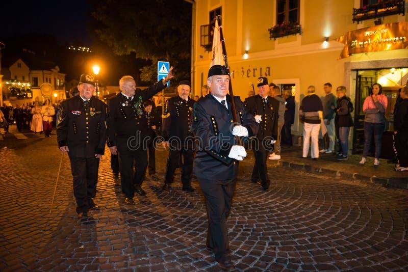 Salamander days parade in Banska Stiavnica, Slovakia stock photos