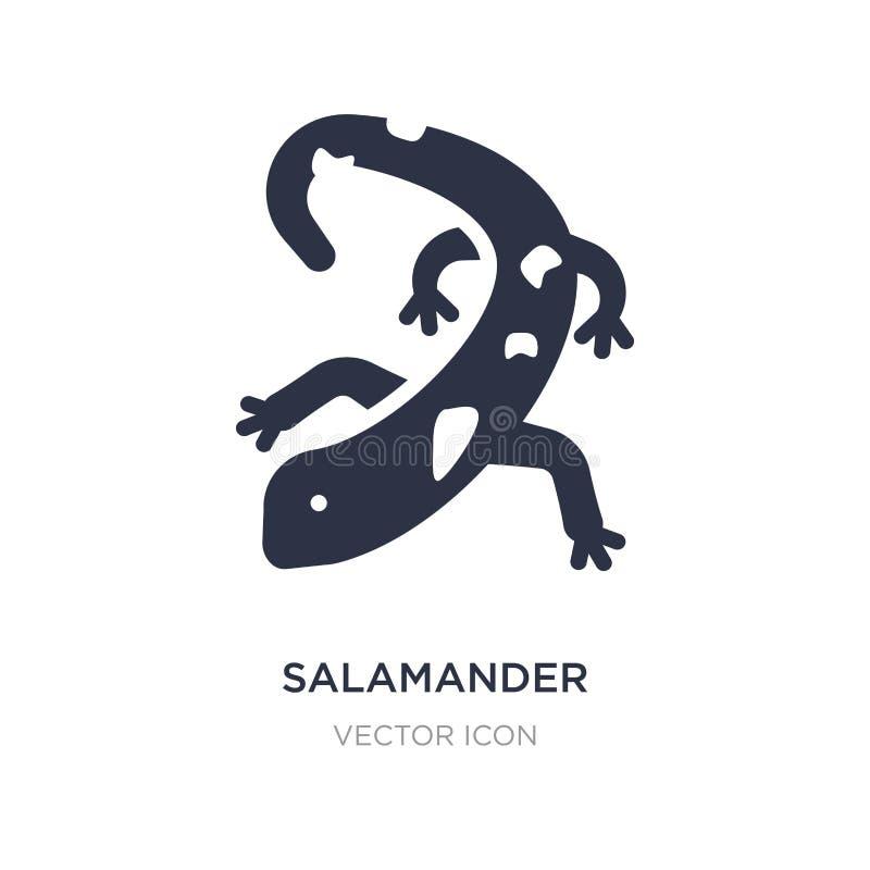 salamanderpictogram op witte achtergrond Eenvoudige elementenillustratie van Dierenconcept vector illustratie