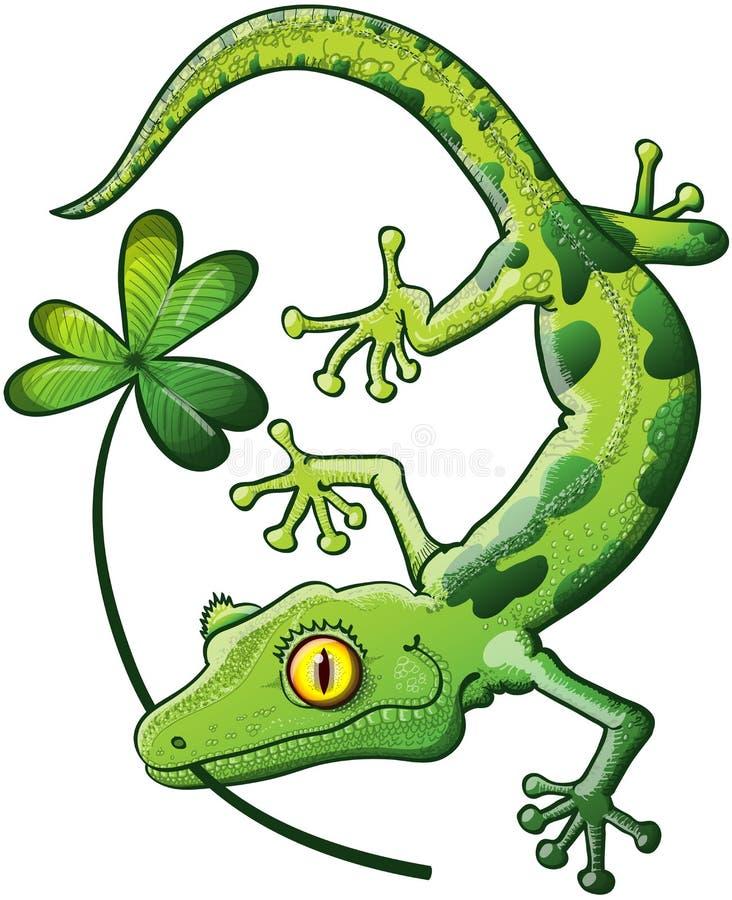 Salamandra del día del St Paddys stock de ilustración