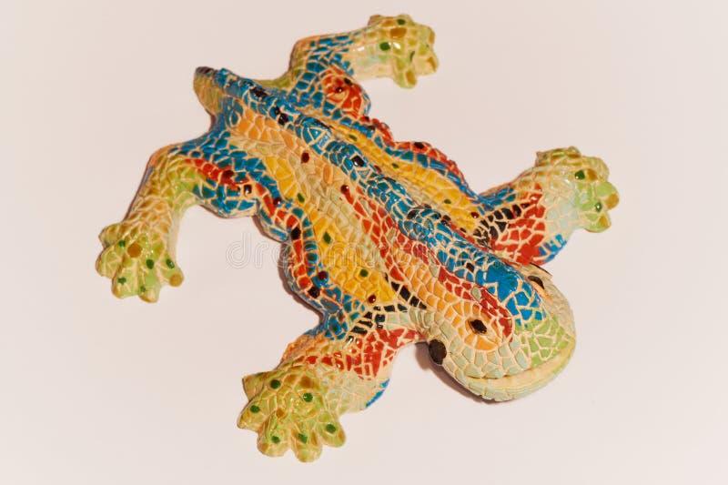 Salamandra do estilo de Gaudi fotografia de stock