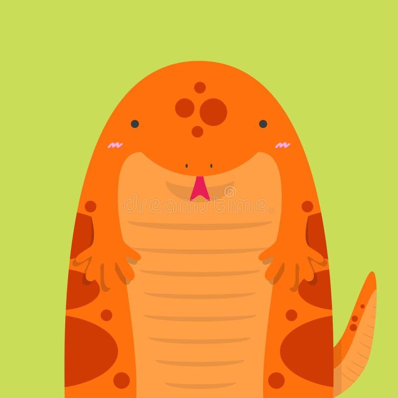 Salamandra vermelha gorda grande bonito ilustração royalty free