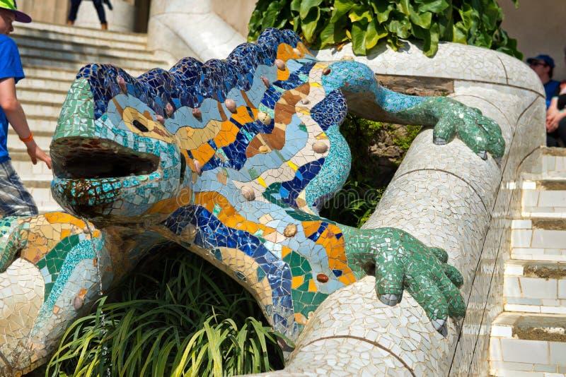 Salamandre De Mosa Que Chez Parc Guell Barcelone Photo
