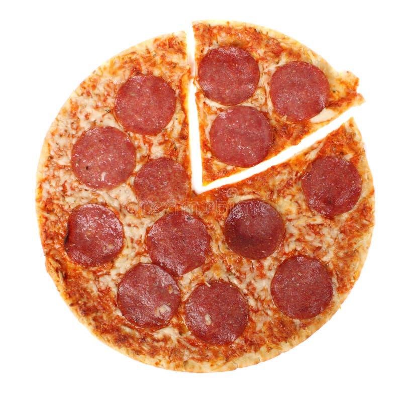 Salame della pizza fotografie stock