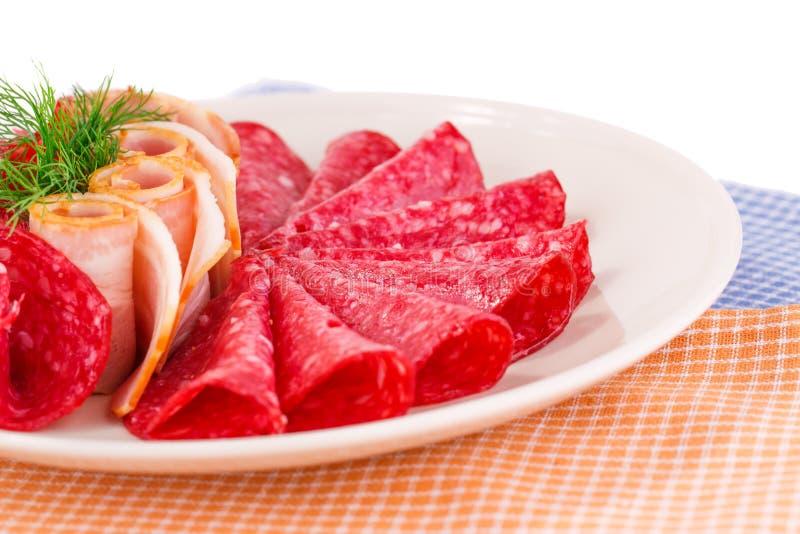 Salame e bacon fotografie stock libere da diritti