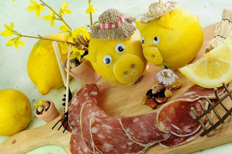 Salami stockfotos
