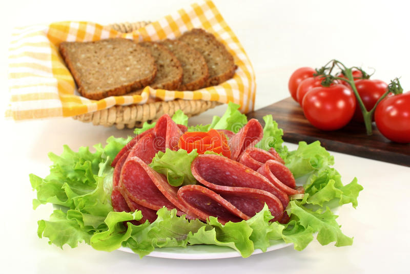 Salami foto de stock