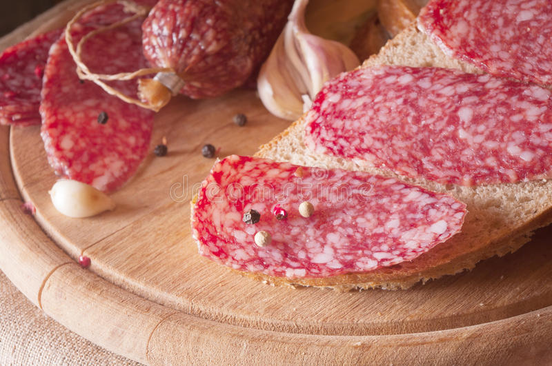 salami stock photo image of isolated meal taste nutrition  17770684