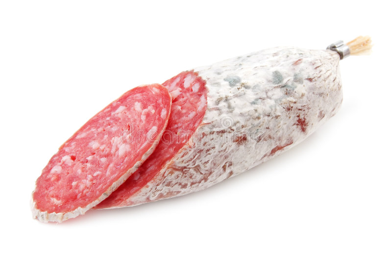 Salami royalty-vrije stock afbeelding