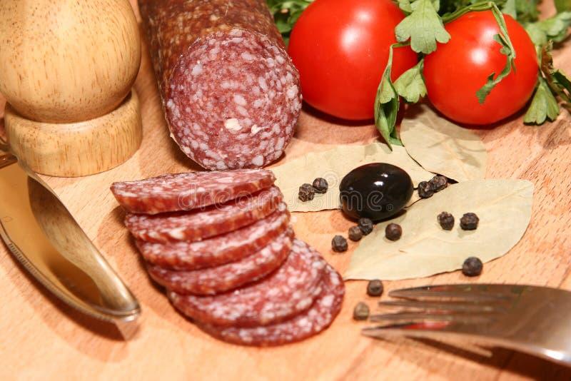 Salami stockfoto