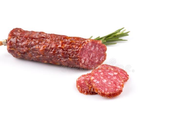 Download Salami coupé en tranches photo stock. Image du froid - 56476810