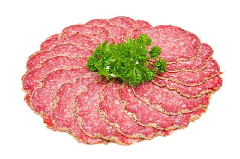 Salami de poivre image stock
