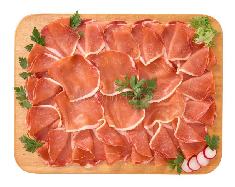 Salami del filete de cerdo foto de archivo
