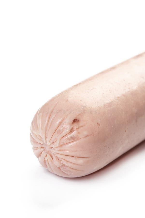 Salami entier de poulet au-dessus du fond blanc photographie stock libre de droits