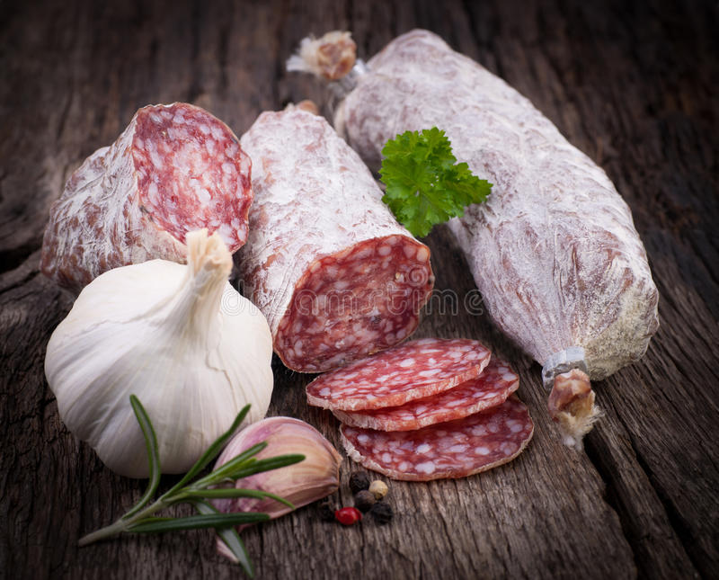 Salami frais photo stock