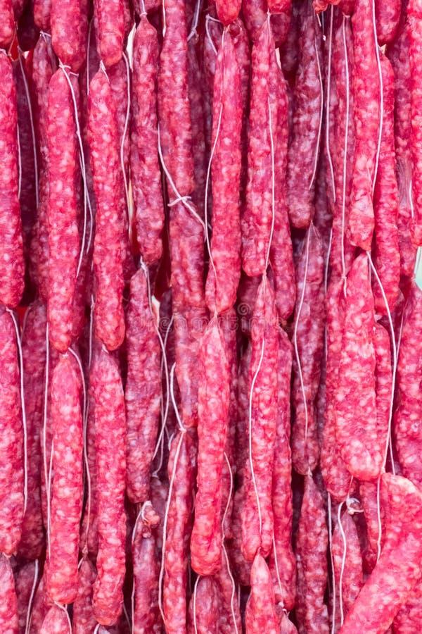 Salami fresco foto de stock