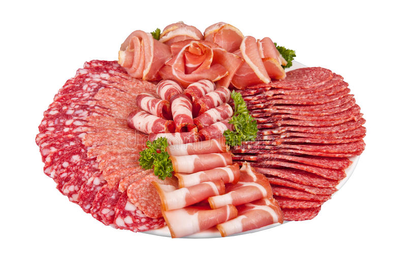 Download Salami Ham Meat And More On The Plate Stock Photo - Image of salami, holiday: 69462682