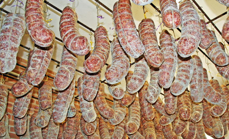 Download Salami Hanging From The Ceiling Stock Photos - Image: 23181823