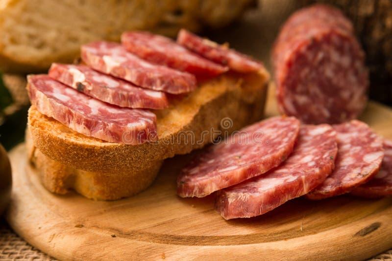Salami italiano fotos de stock royalty free