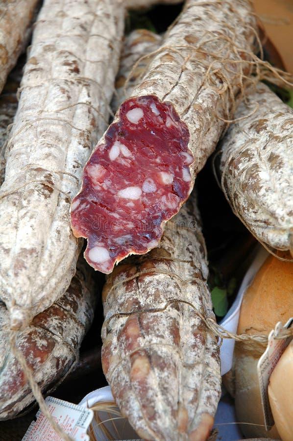 Salami italien de varzi photo stock