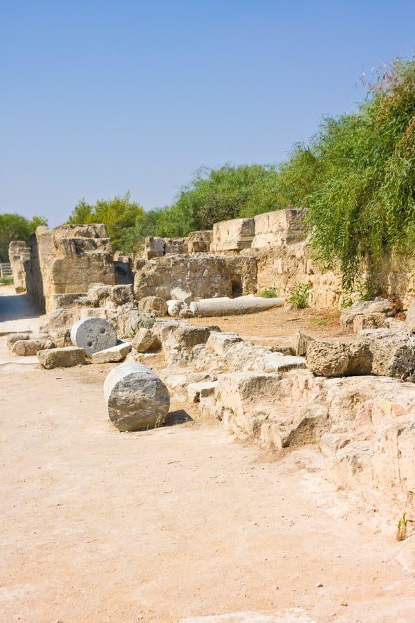 Salami-Ruinen in Nord-Zypern stockbilder