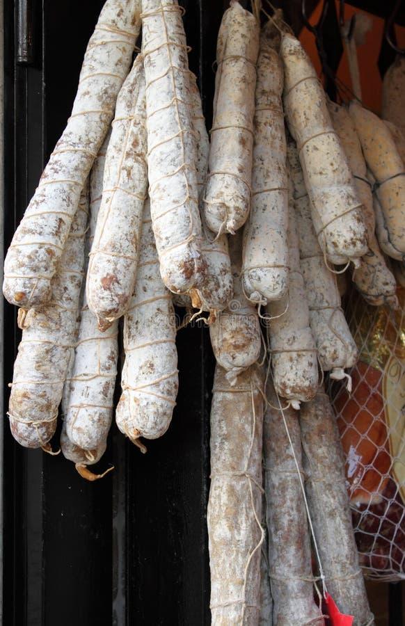 salami włoska rozmaitość zdjęcie stock