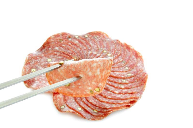 Salamifleisch lizenzfreies stockbild