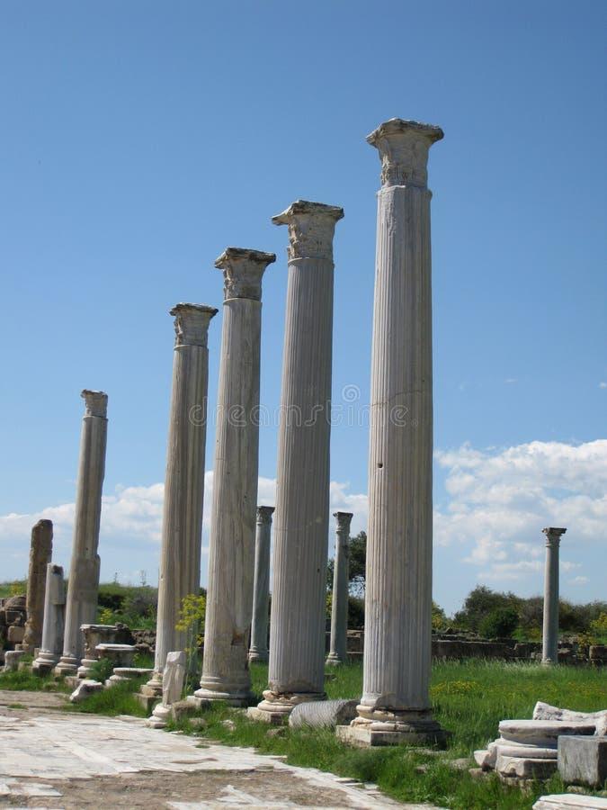 Salamis antiguos, Chipre imágenes de archivo libres de regalías