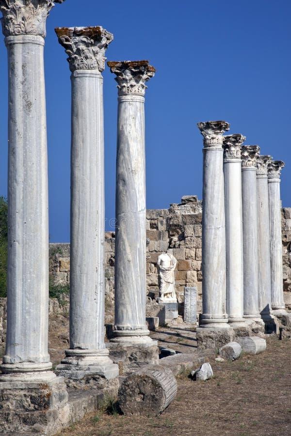 Salamis in Turkish Cyprus royalty free stock image