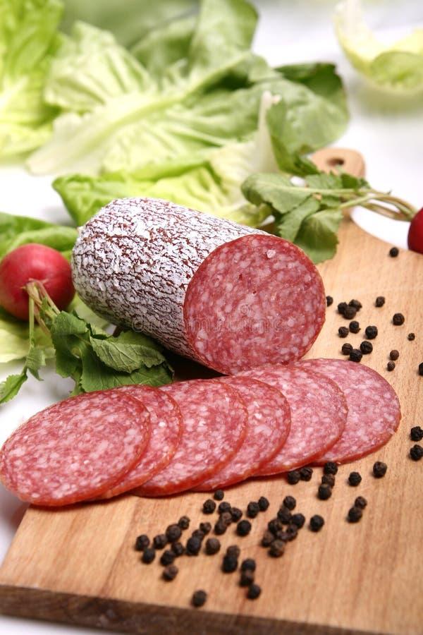 Salamiwurst stockfoto