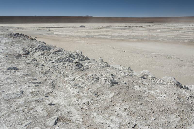Salar de Chalviri, also known as Salar de Ohalviri, is a salt flat in the heart of Eduardo Avaroa Andean Fauna National Reserve. In the Potosí Department stock photos